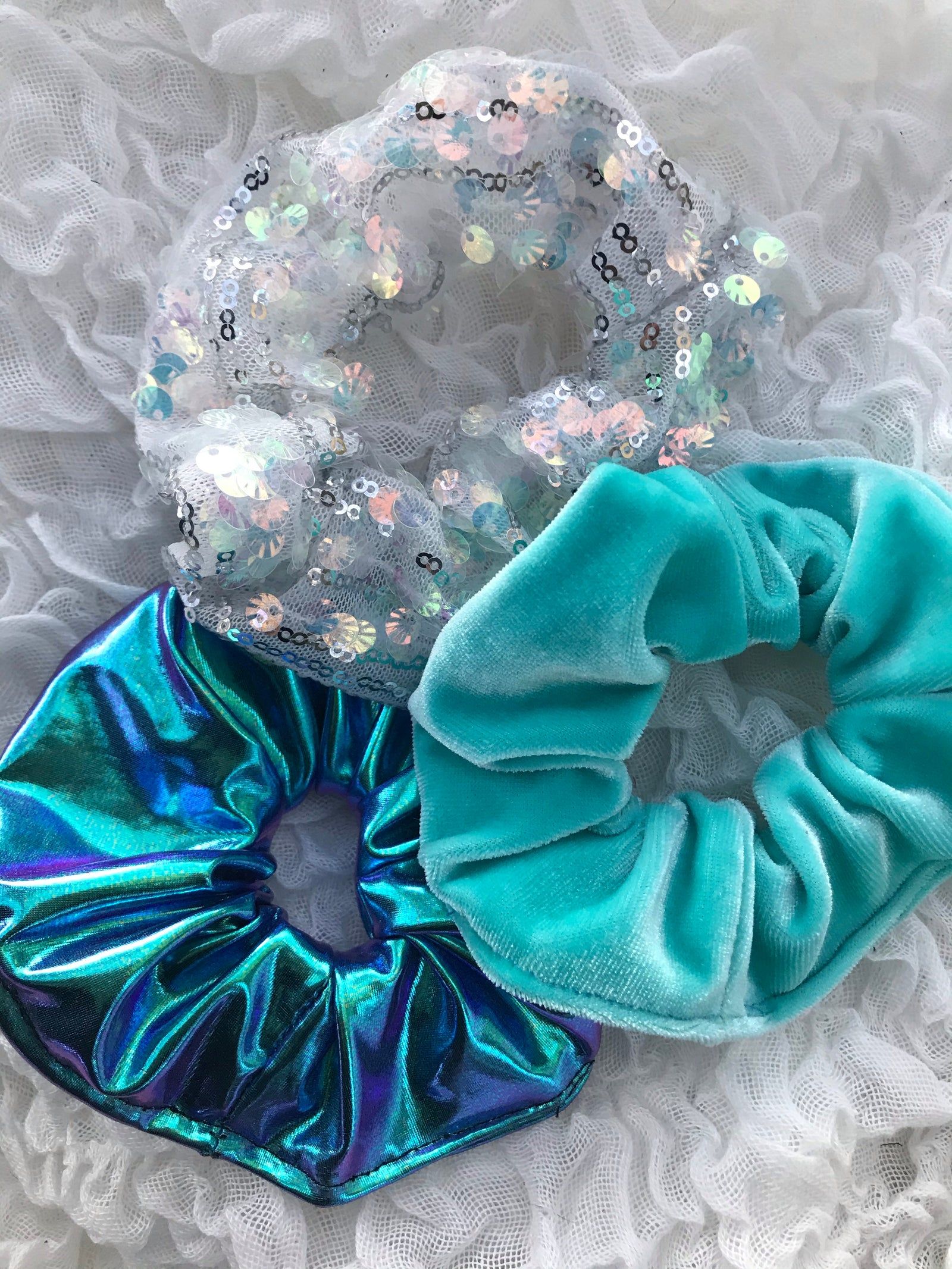 3 for $15 hair scrunchies- fairy collection