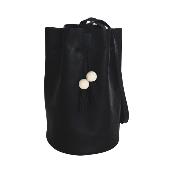 grande cinched bucket tote | black