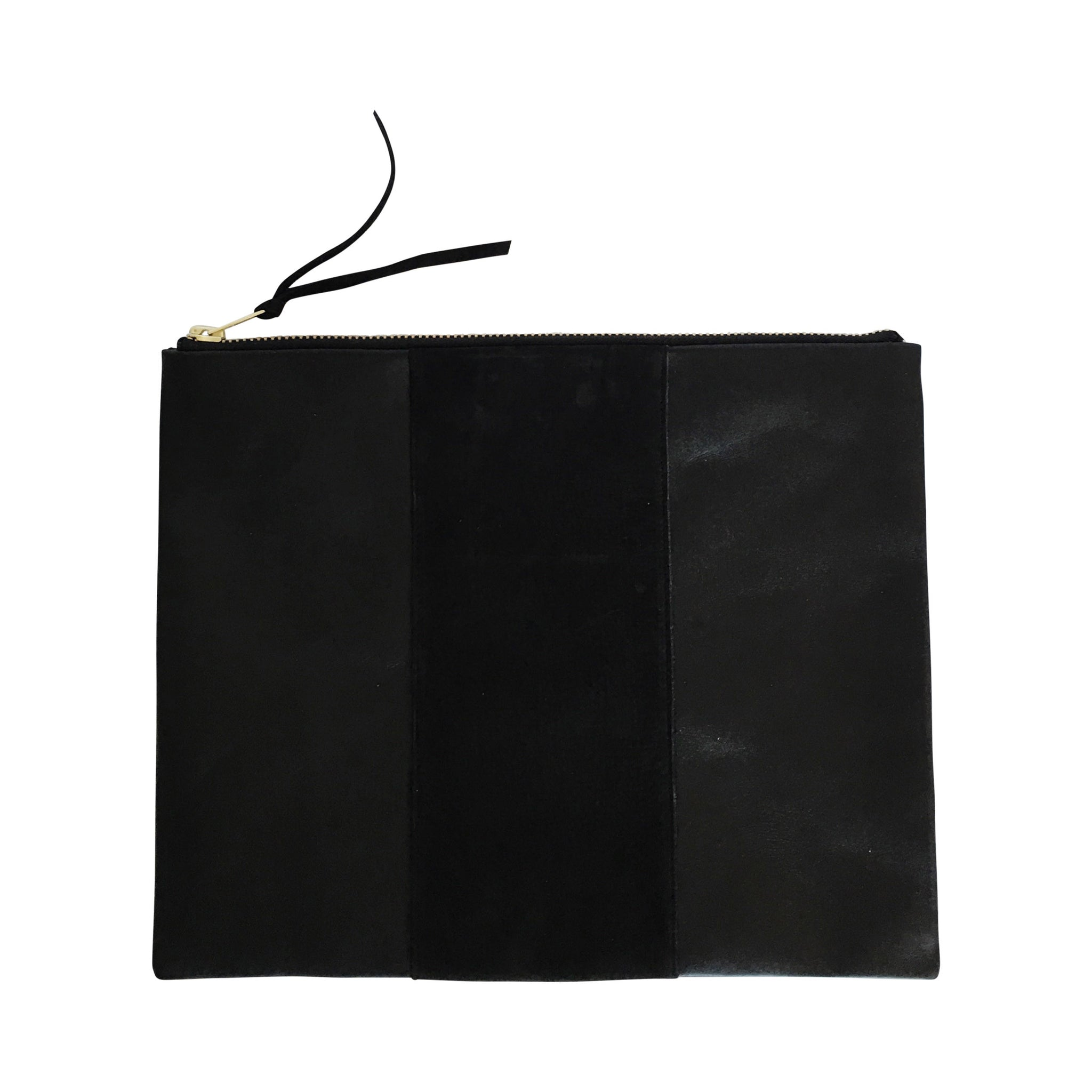 aw 17 | grande panel zippy clutch | black