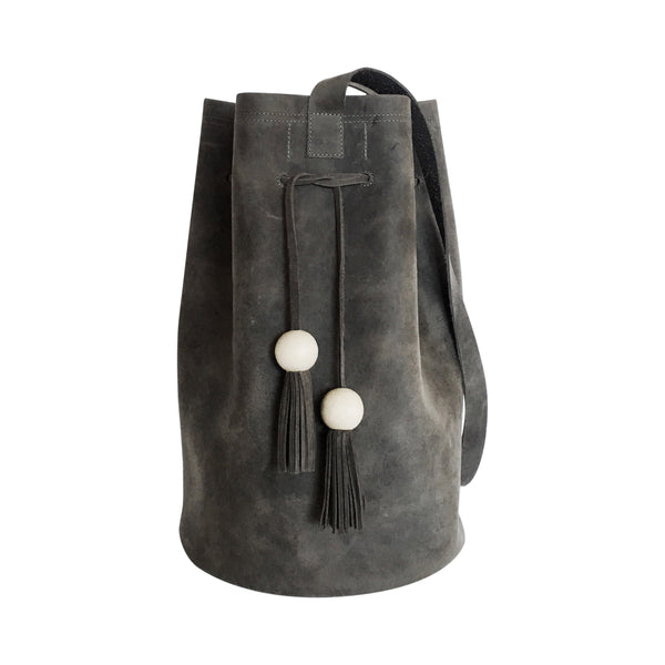 grande cinched bucket tote | grey