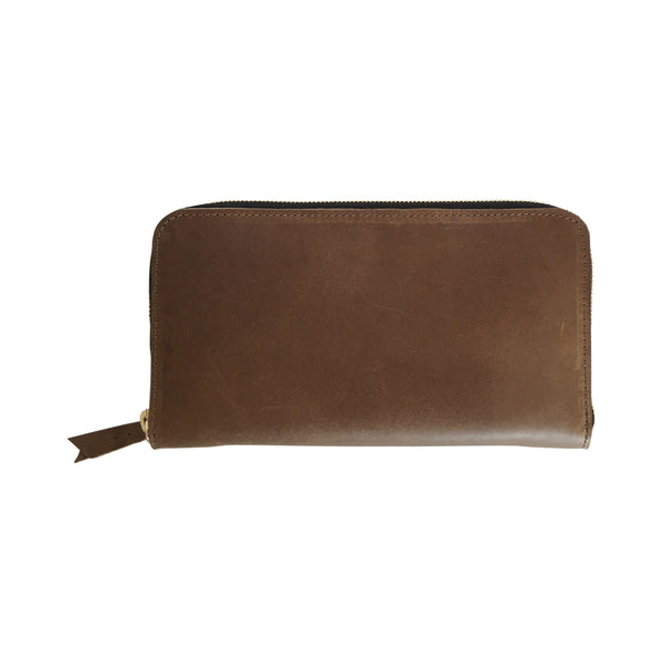 grande zippy wallet | brown