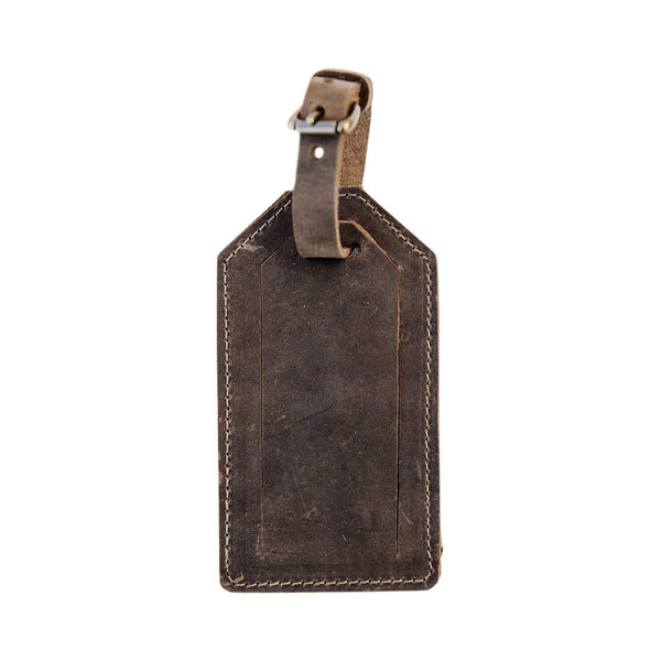 luggage tag | brown