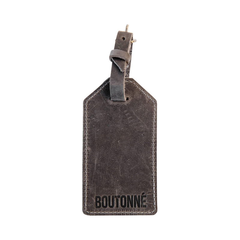luggage tag | grey