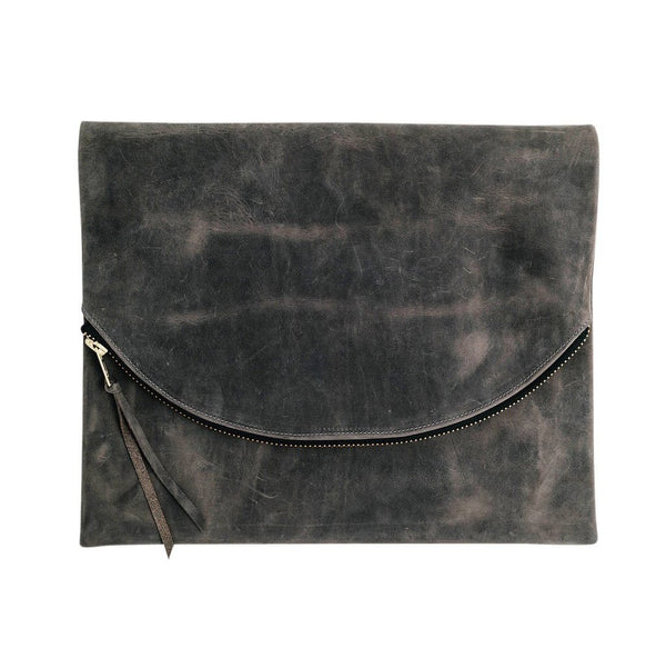 claudette foldover clutch | grey