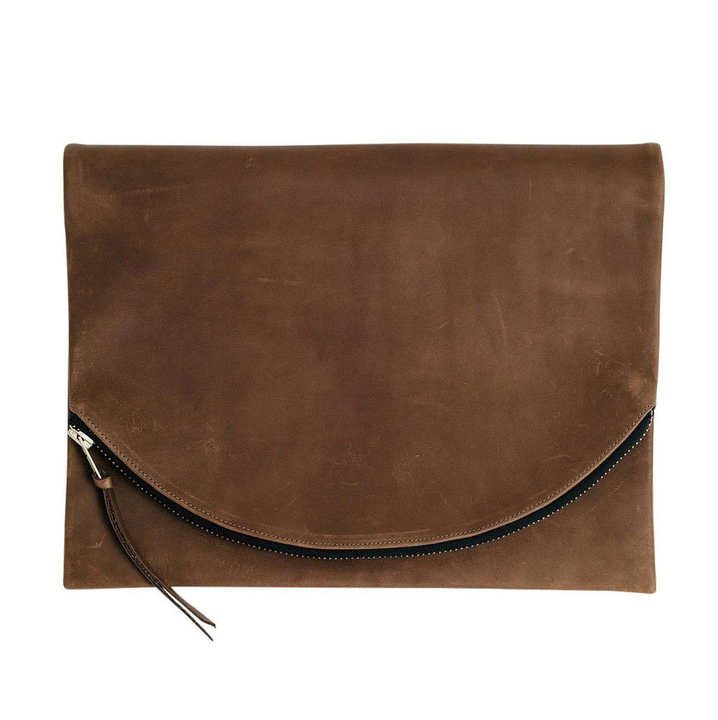 claudette foldover clutch | brown