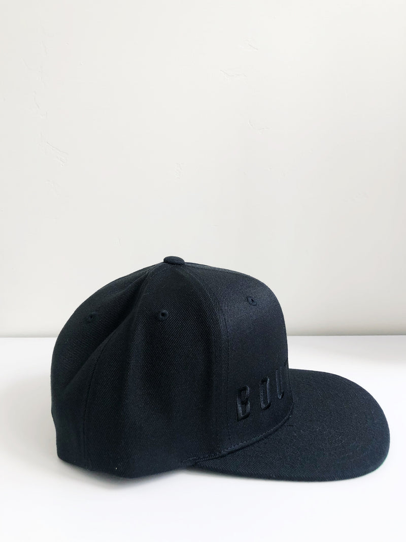 six panel cap | black