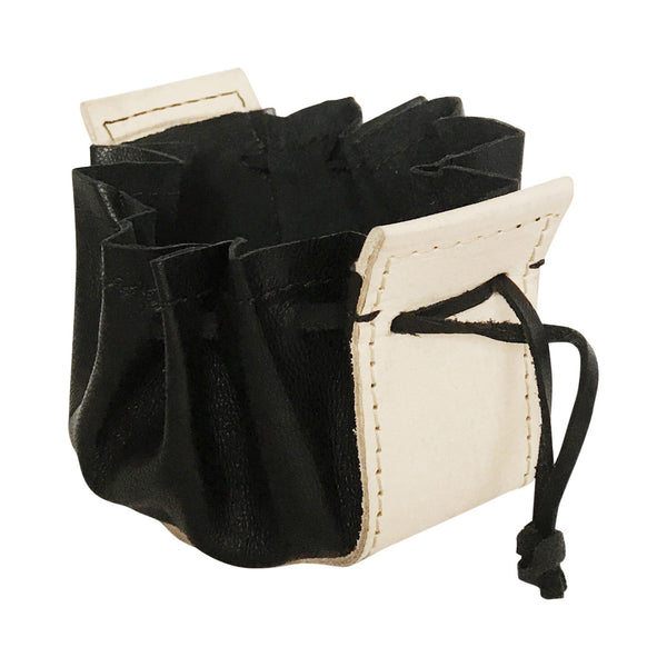 travel jewelry pouch | beige + black