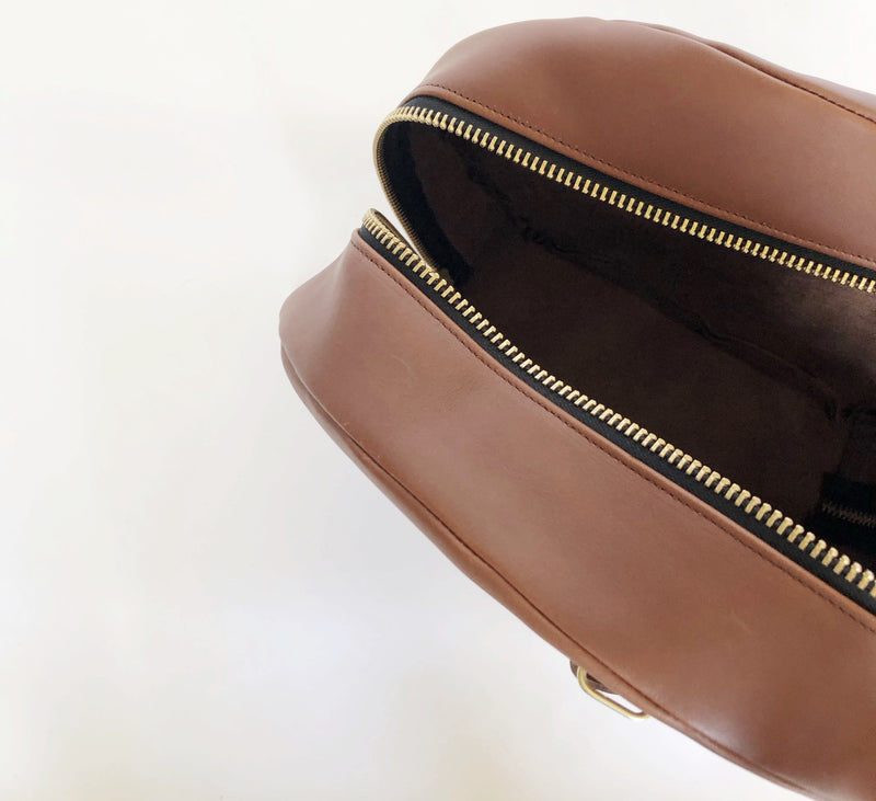 grande hat box | cognac