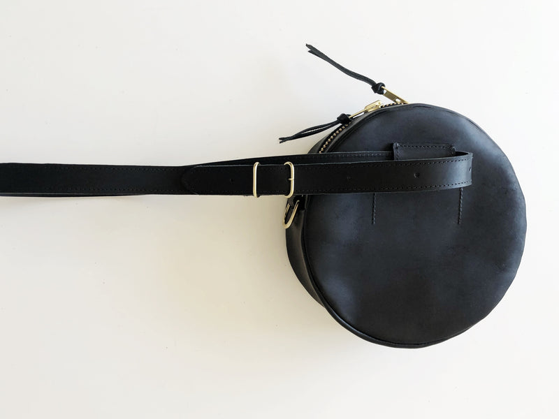 full moon cross body // waist bag | black