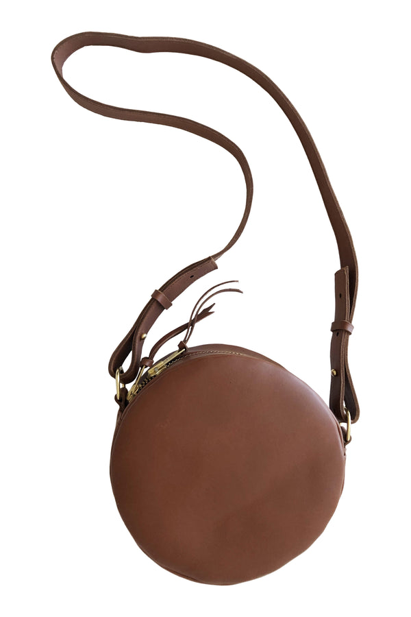 full moon cross body // waist bag | cognac