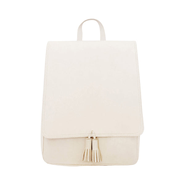 all leather rucksack | beige