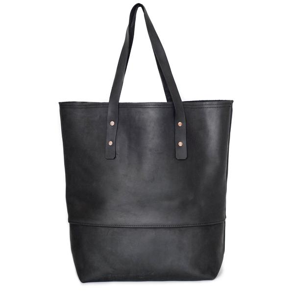 all leather mills tote