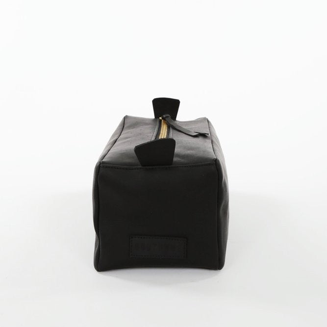 all leather dopp kit | black