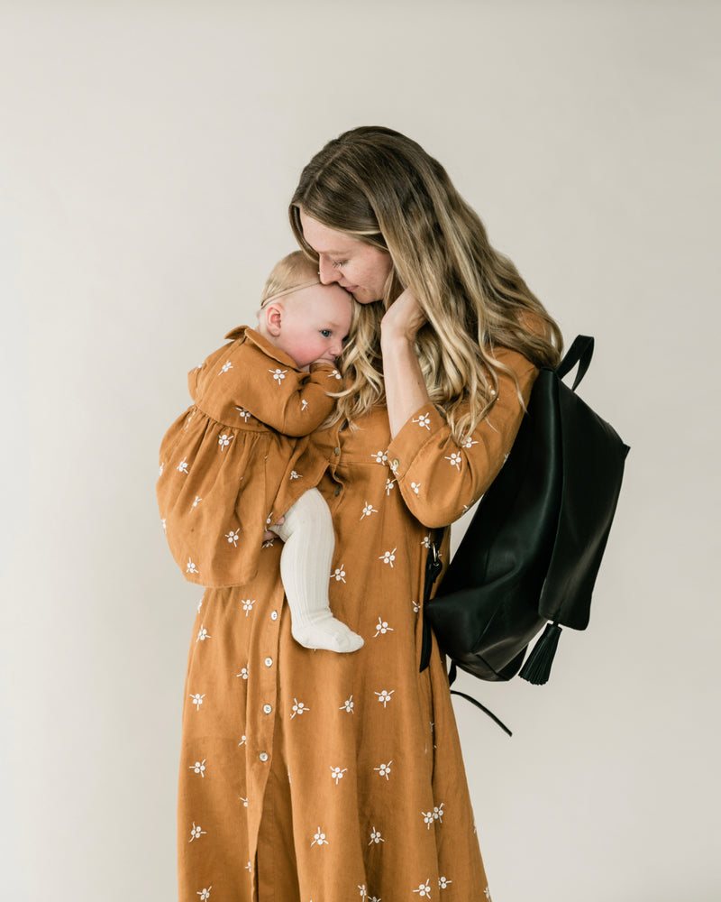 rylee + cru mommy diaper bag | black
