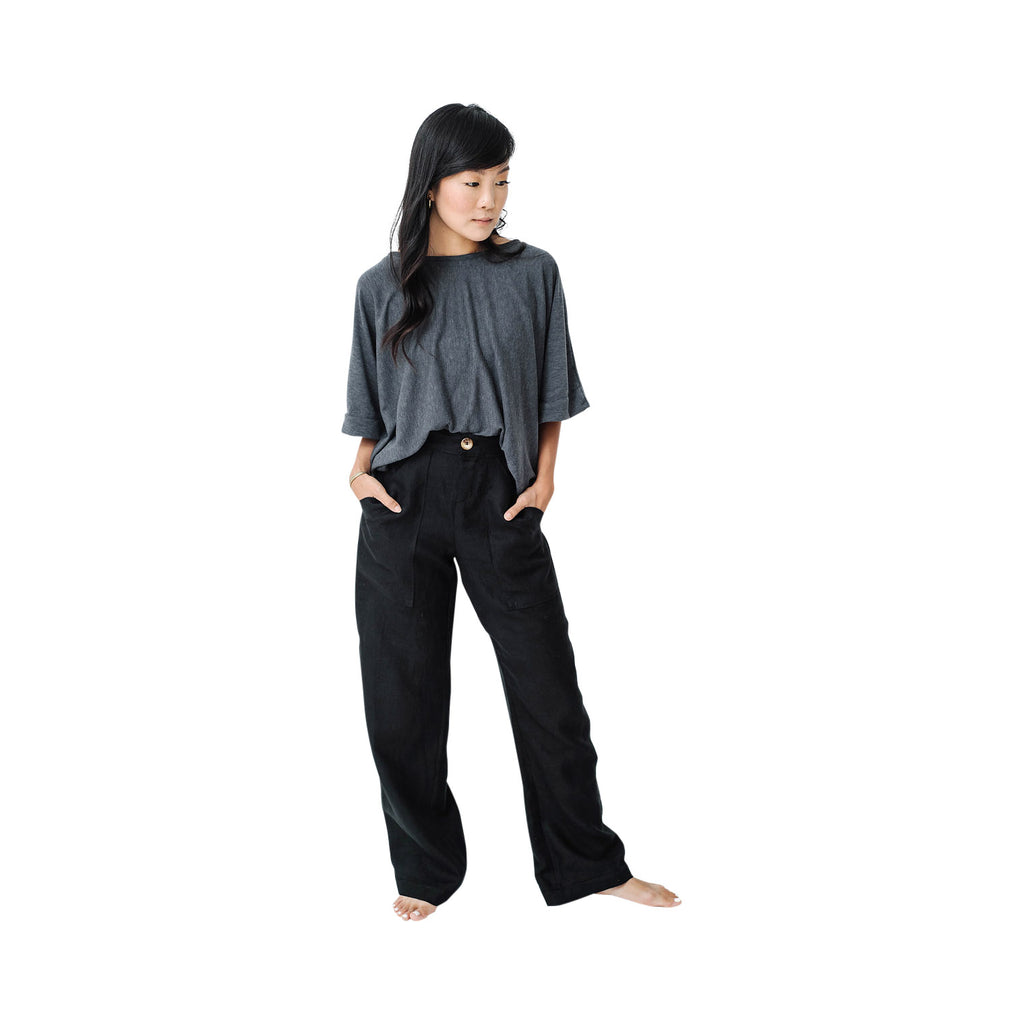 wide leg trouser | black