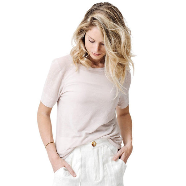 claudette pull over | peony silk blend