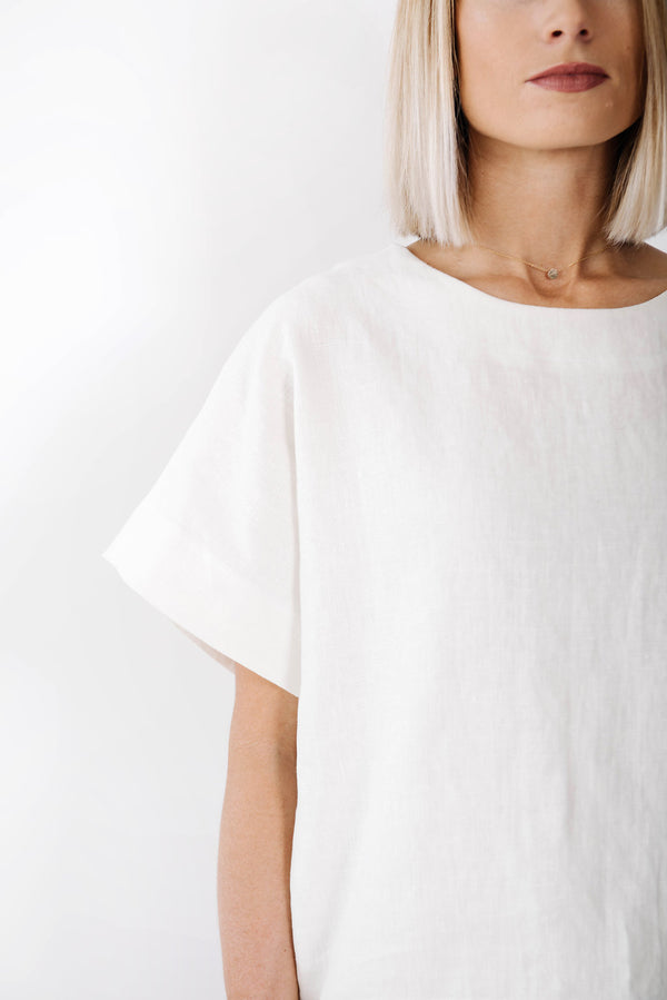 james box top | white linen
