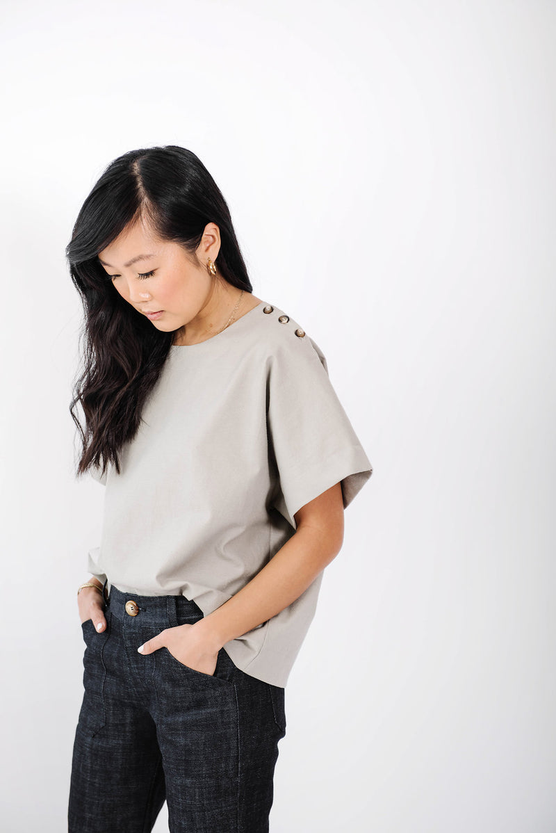 james box top | clay linen