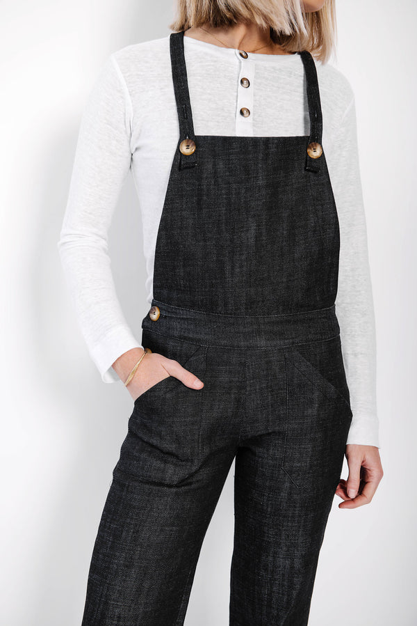 james denim overalls | indigo
