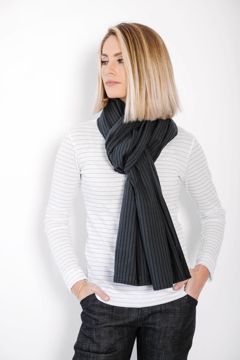 james scarf | indigo stripe