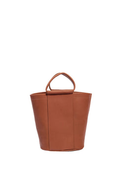 james petite panel bucket | cognac