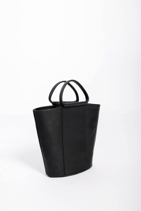 petite panel bucket | black