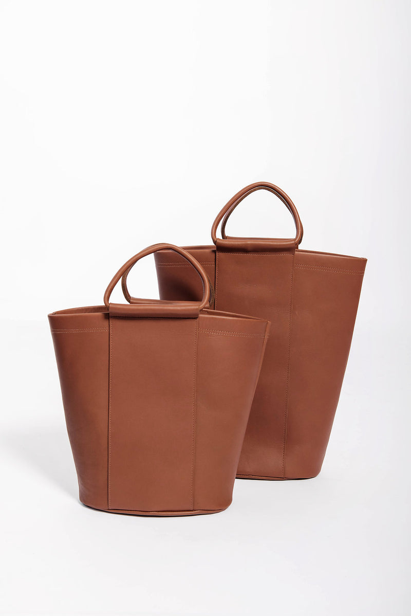 grande panel bucket | cognac