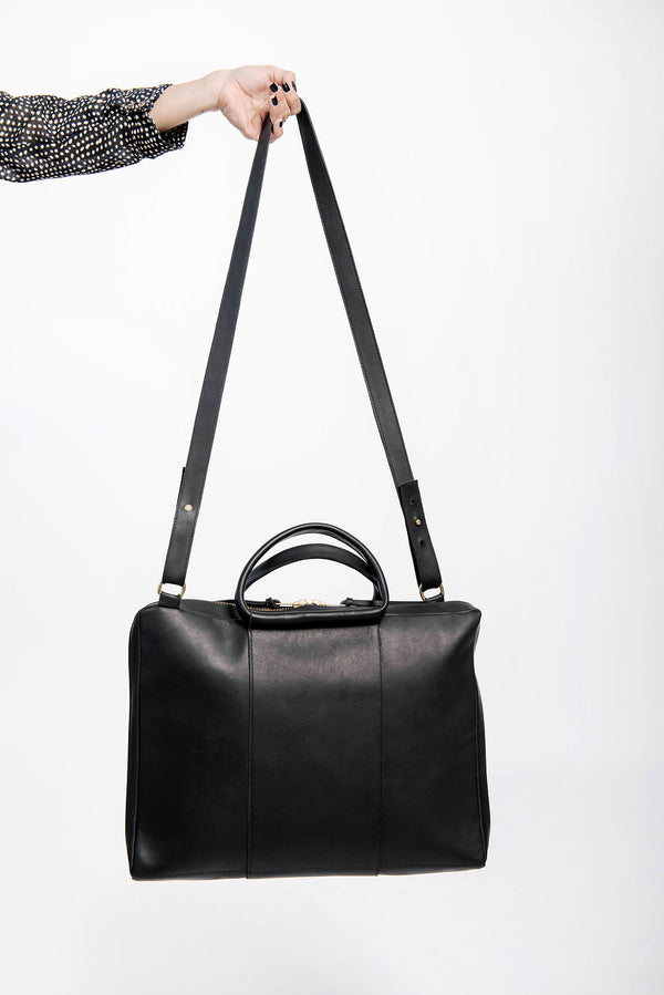 james briefcase | black