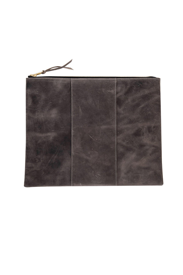 james grande panel zippy clutch | grey