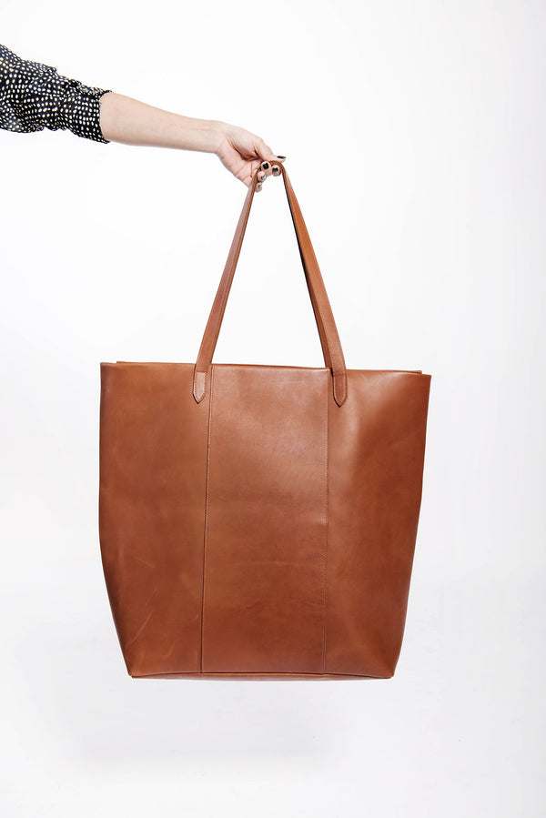 james grande work bag | cognac