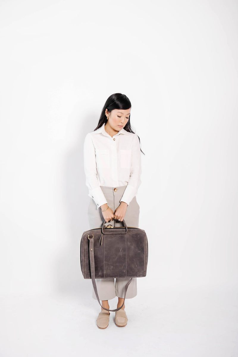 james briefcase | grey