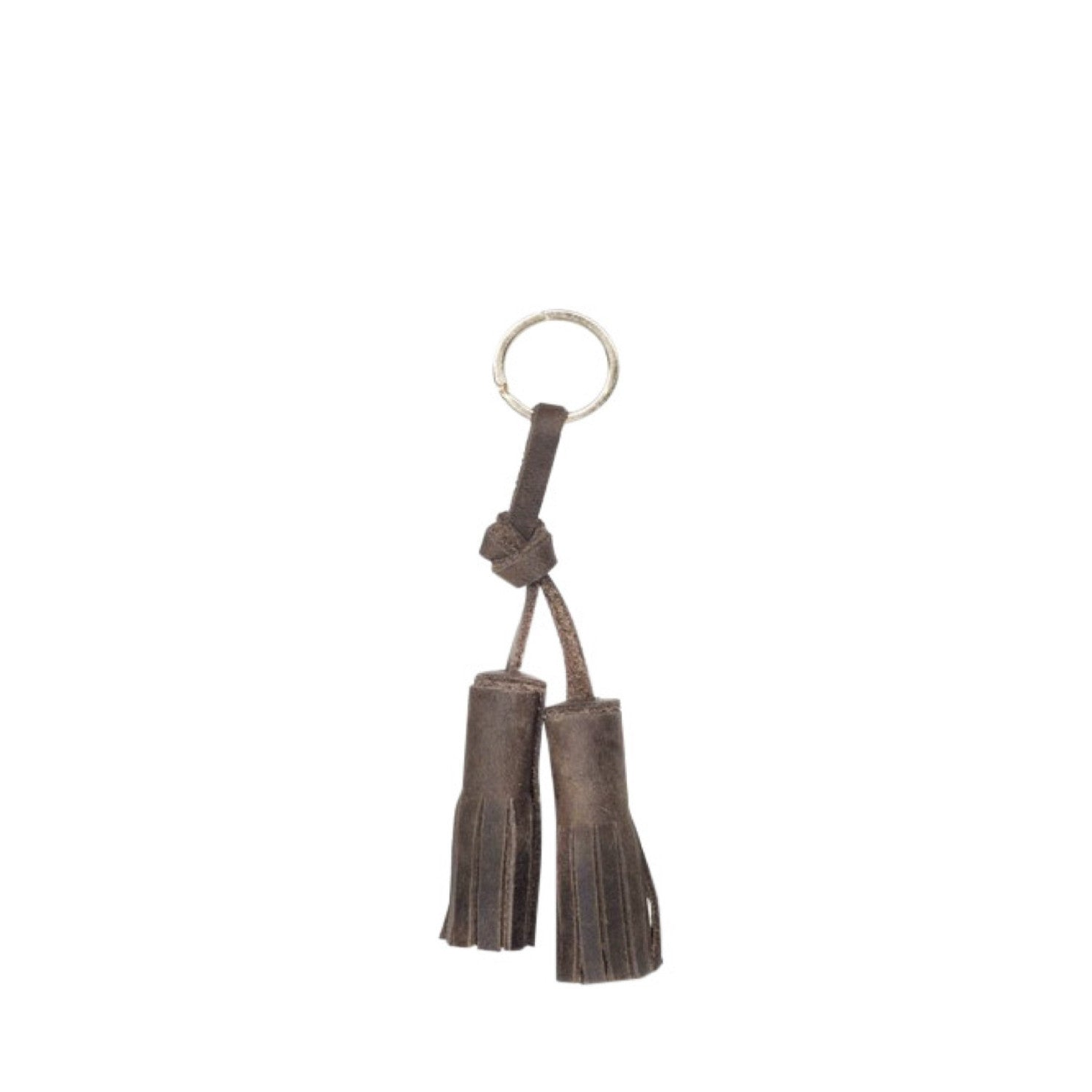 tassel key fob | chocolate