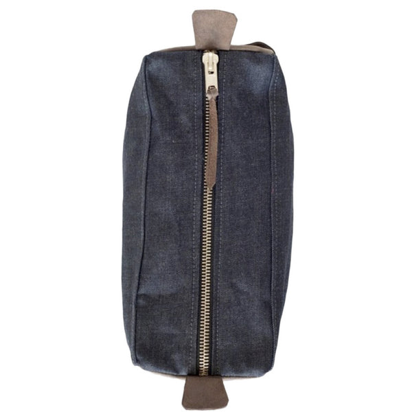 dopp kit | indigo + chocolate