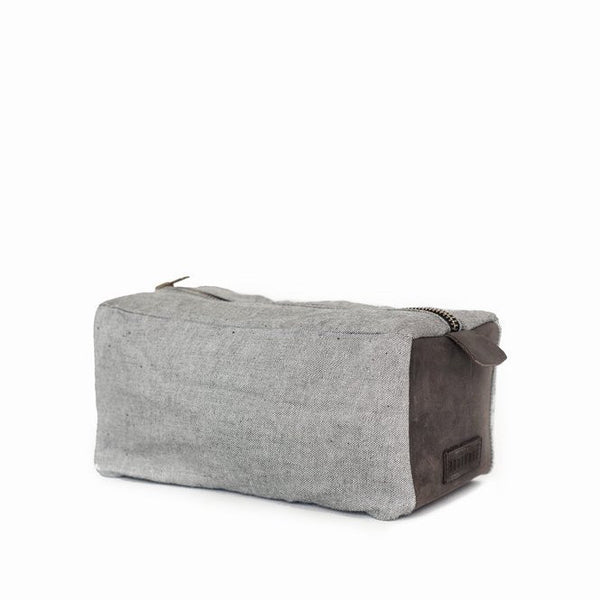 dopp kit | reverse indigo + chocolate