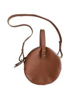 full moon bridle bag | cognac