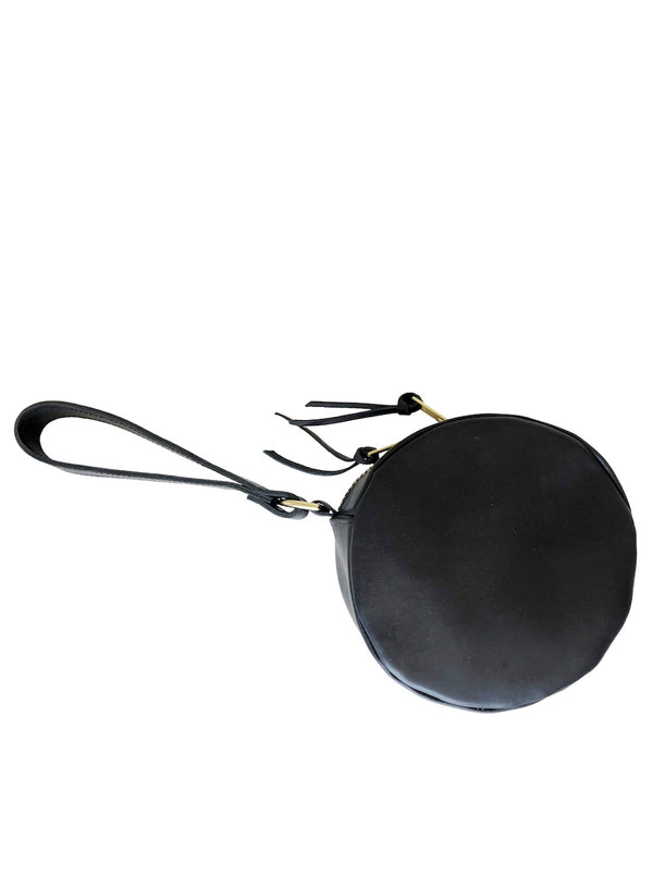 full moon wristlet | black