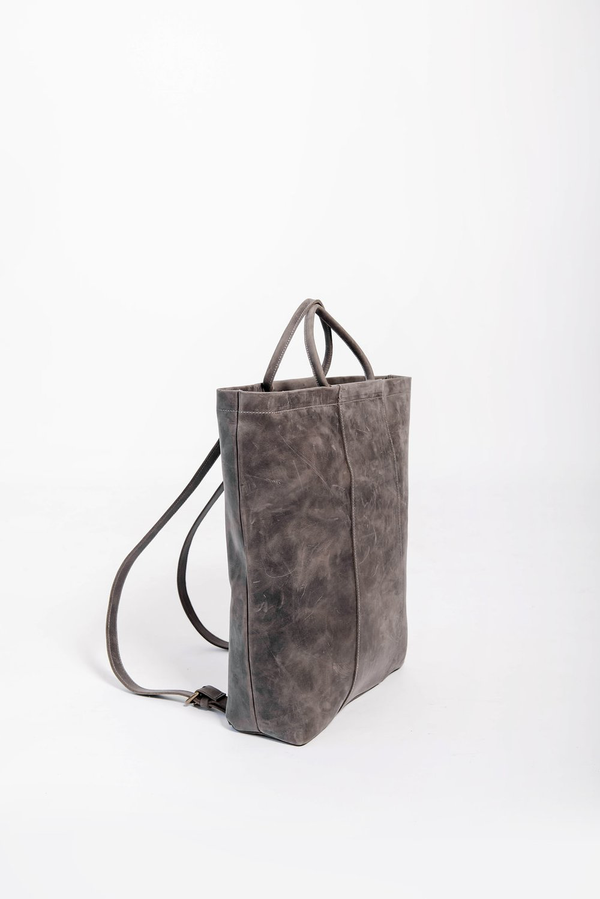 panel diaper bag rucksack | grey