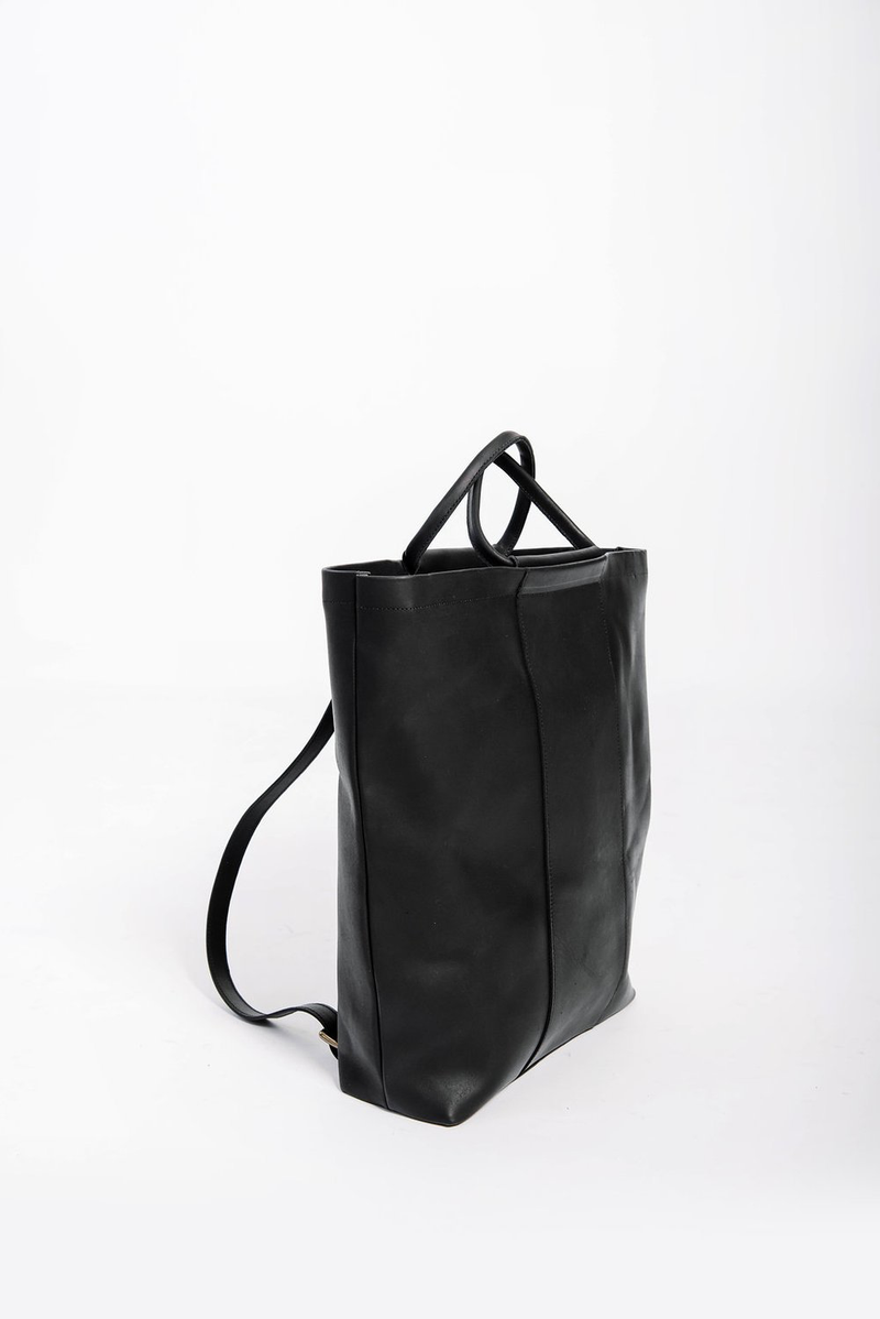 panel diaper bag rucksack | black