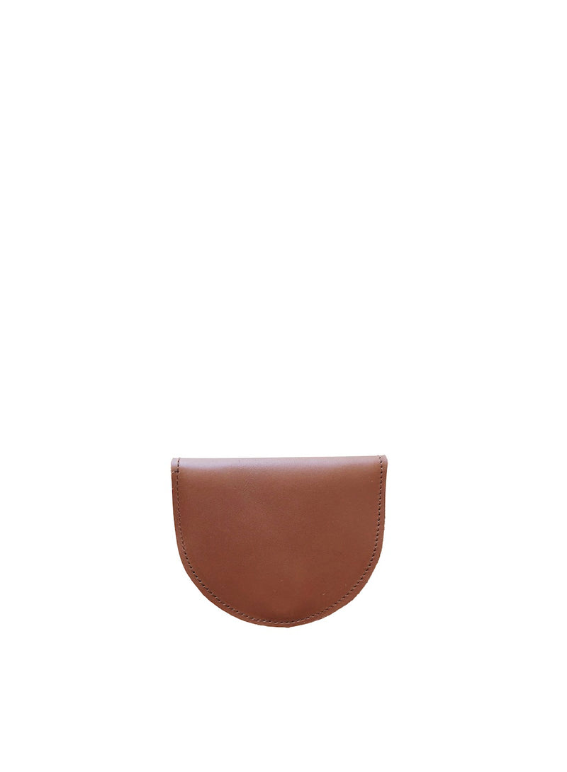 setting moon wallet | cognac