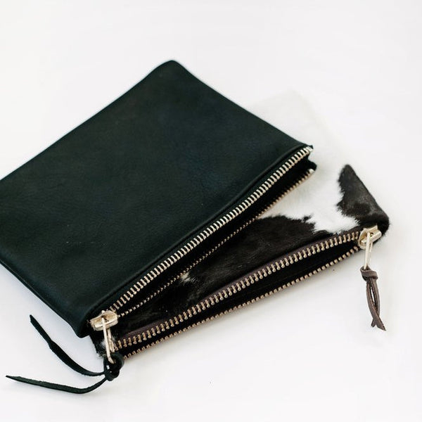 petite zippy clutch | black
