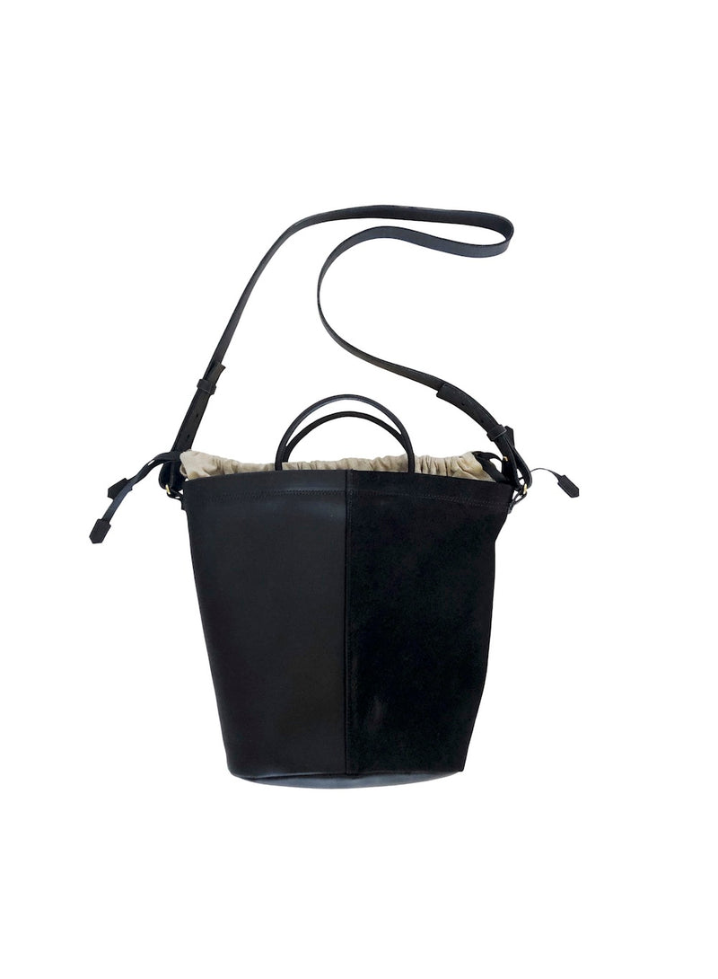 two tone bucket | black