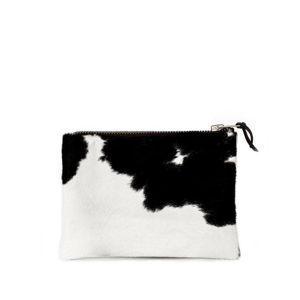 petite zippy clutch | hair on the hide