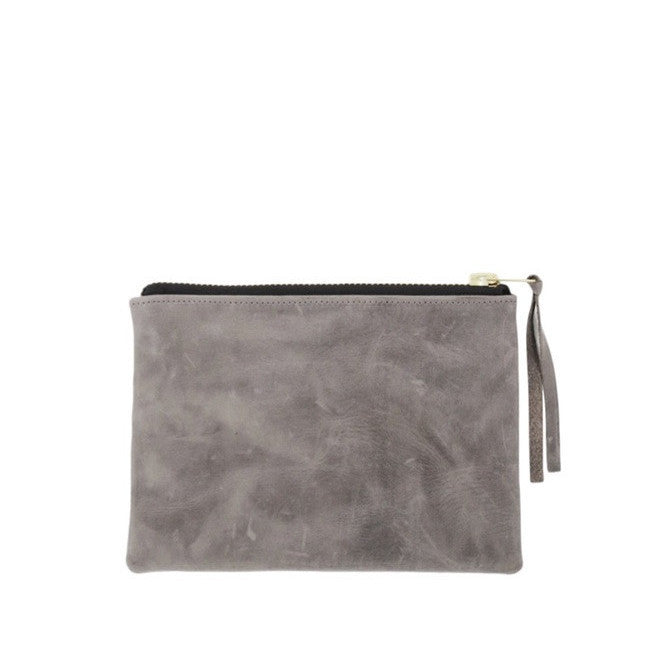 petite zippy clutch | grey