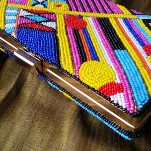Indira - Hand Beaded Clutch Bag