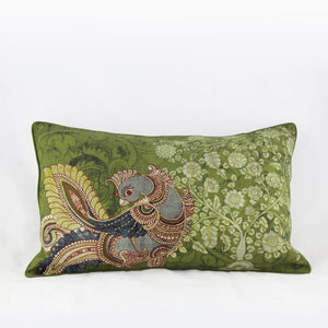 Mayur Olive - Long Cushion Cover