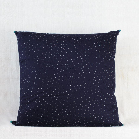 Large Indian Indigo Cushion Cover - Back