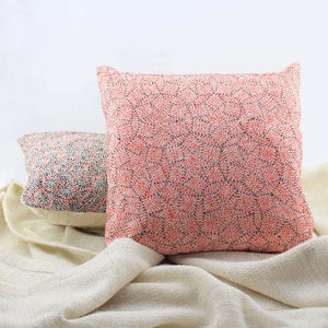 Taare pink - Sujani cushion cover