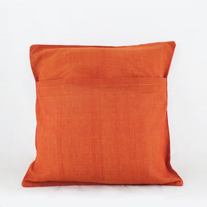 Nurturing Earth Orange - Applique Cushion Cover