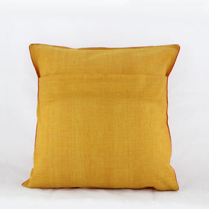 Nurturing Earth Yellow - Applique Cushion Cover