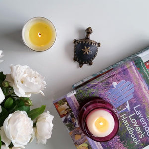 Captivating yet a simple decorative handmade brass tortoise sits perfectly on a coffee table with books, tealights and flowers.